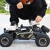 Kikioo 1:10 High Speed Off Road Monster Truck Todo Terreno Carreras Gigante 2.4 Ghz Radio Control Remoto RC Hobby Eléctrico Rastreador de Rock Rápido Pies Grandes Aleación 4WD Drifting Carros Escala