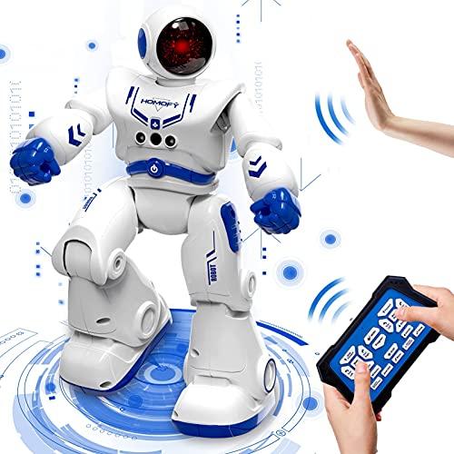HOMOFY Robot Toys for 5 6 7 8 -12 Year Old Boys Girls Kids Gift, Remote Control Robot Toys for Kids RC Intelligent Programmable Robot Smart Robot Kit with Dancing, Singing, Led Eyes, Gesture Sensing