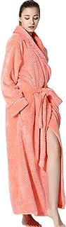 Dressing Gown Winter Long Luxury Flannel Bathrobe for Couples Women Men Bathingsuit Plush Soft Full Length Nightwear Spa Resort Robe Kimono Sleepsuit Romper Loungewear Homecoat Pajama Set