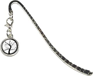 Tree of Life Metal Bookmark Page Marker with Charm