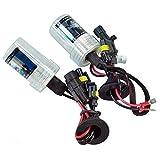 Coppia lampade bulbi kit XENO xenon H7 35w 8000k 12v lampadina luce HID ricambio fari