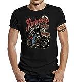 Gasoline Bandit Rockabilly Camiseta Original Diseno: Rockabilly Lives Forever! M