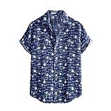 Camisas de vacaciones para hombre, verano, informal, ajustadas, de manga corta marine XXL