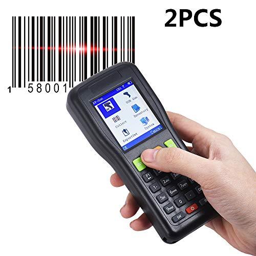 ZUKN Portable Smart Scanner De Codes À Barres PDT 1D Lecteur De Codes À Barres sans Fil Et Collecteur De Données De Poche De L'inventaire De Données De Poche pour Le Magasin De Supermarché 2 Pièces