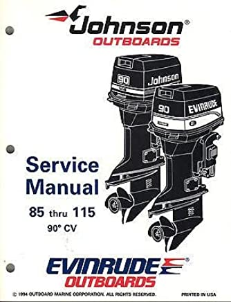 Amazon com: Johnson 115 Outboard Manual: Books