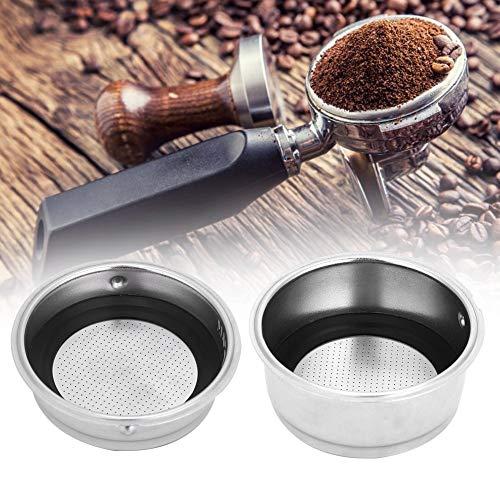 Filtros de café reutilizables, filtro de café de acero inoxidable desmontable Colador de la cesta Accesorios para máquinas de café para oficina en casa Sin BPA Sin BPA(Double Cup)