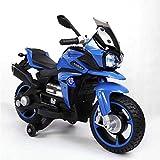 Moni Kinder Elektromotorrad BO Rio R800, Musikfunktion, Frontscheinwerfer Stützräder, Farben:blau