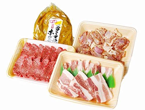 いわちく ボリューム1kg岩手県産ブランド肉(牛肉・豚肉・鶏肉)&ホルモンお買い得バーベキューセット
