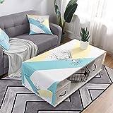LIUJIU Mantel de poliéster lavable, perfecto para mesas de bufé, fiestas, cenas de vacaciones, 70 x 180 cm