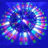 50 Pcs LED Helicopter Shooters,Rocket Slingshot Flying Copters Toy with Led Lights,Amazing Led Light Arrow Helicopter Glow Christmas Day Outdoor Game for Kids Adult 50 Pcs