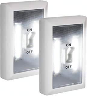 Super Bright Switch: Wireless Peel and Stick LED Lights - Tap Light, Touch, Night, Utility, Battery Operated, Under Cabinet, Shed, Kitchen, Garage, Basement- 2 pack, White