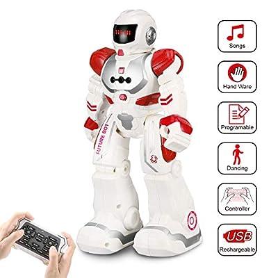 FUNTECH Remote Control RC Robots, Speaking Dancing Smart Programmable Robotics Kids Boys Girls - Children Gift