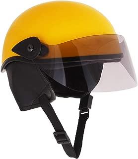 Sage Square Scooty Half Helmet for Men, Women (Yellow Glossy, Medium)