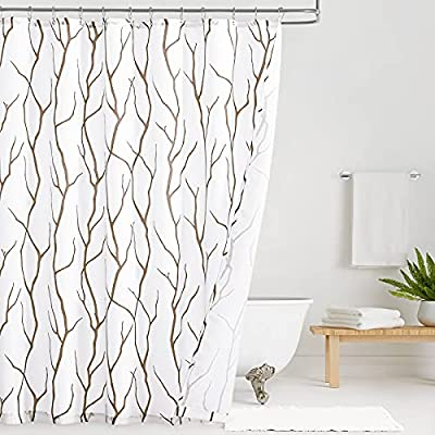 KGORGE Bathroom Curtains Shower Privacy - Water...