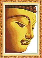 大人の刺繡仏の肖像画のための刻印されたクロスステッチキット初心者40x50cmDIYクロスステッチ用品家の装飾のための手工芸品のかぎ針編みのギフト(11CT印刷済み)