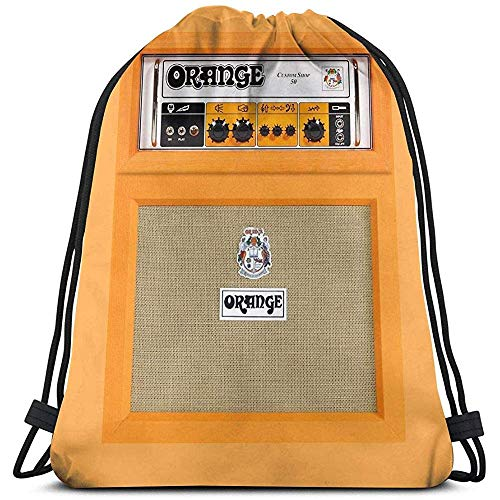 BOUIA aanbiedingen nieuwe retro oranje gitaar E-Amp versterker iPhone 3D print trekkoord rugzak rugzak sporttas