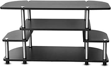 Leostar 3 Layer TV Table, Black - 90x40x50cm