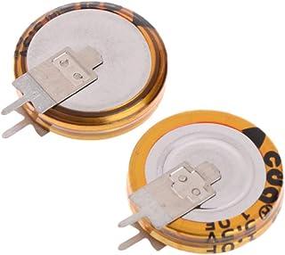 BIlinli 2 Pcs Universal 5.5 V 1.0F Super Capacitor V-Type Button Smart 5mm Capacitance
