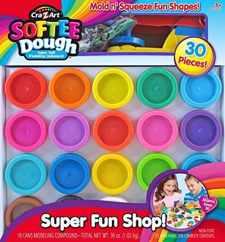 Cra-Z-Art Super Rainbow Softee Dough Color Pack Set (30Piece)