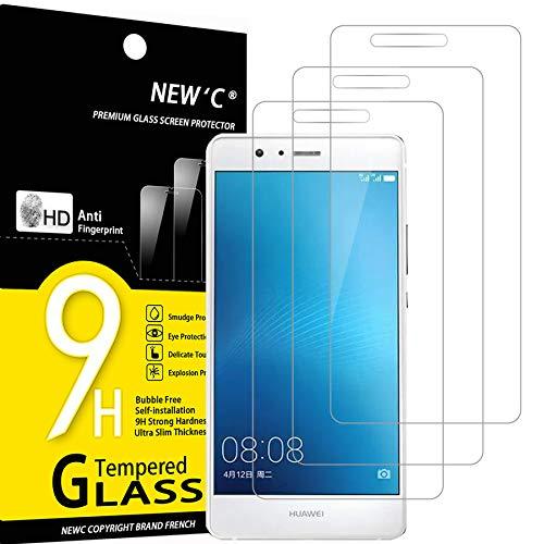 NEW'C 3 Pezzi, Vetro Temperato Compatibile con Huawei G9 (P9), Pellicola Prottetiva Anti Graffio, Anti-Impronte, Durezza 9H, 0,33mm Ultra Trasparente, Ultra Resistente