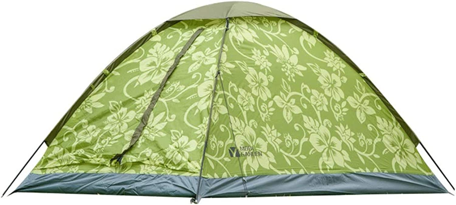 Outdoor Camping Tent, 2 People, 210T Coated Polyester Fabric, Single Layer Structure, Rainproof Sunscreen Waterproof, Suitable for Picnic Beach Park Lawn Field Fishing (color   Light Green)