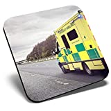 Gran posavasos cuadrado – servicios de emergencia ambulancia | posavasos de calidad brillante | protección de mesa para cualquier tipo de mesa #15804