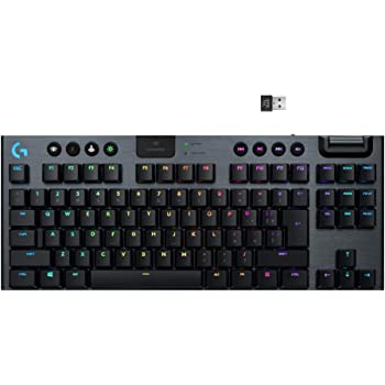 Logitech G915 TKL Tenkeyless Lightspeed Wireless RGB Mechanical Gaming Keyboard, Low Profile Switch Options, LIGHTSYNC RGB, Advanced Wireless and Bluetooth Support - Tactile