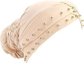 Qianmome India Caps Turban Bandana Braided Headwrap African Point Drill Milk Silk Head Wrap