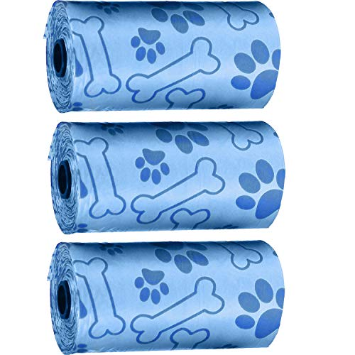 Pet Touch Lot de 60 sacs de recharge pour chien Bleu