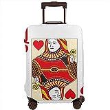 Funda de Equipaje de Viaje Queen of Hearts Juego de Cartas Casino Juego de apuestas Poker Blackjack Maleta Protector Tamaño L