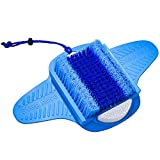 Foot Scrubber for Shower with Pumice Stone, Foot Brush, Foot Cleaner, Foot Exfoliator with Floor Suction Cup, Foot Spa Massager without Bending in Shower, Dead Skin & Callus Remover - Foot Care