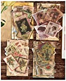 240 Stück Vintage Aufkleber, Aesthetic Stempel Scrapbook Aufkleber Set Blumen Briefmarken Dekorative Sticker für DIY Handbuch Tagebuch Sammelalbum, Kunst, Basteln, Aufzählungszeichen,...