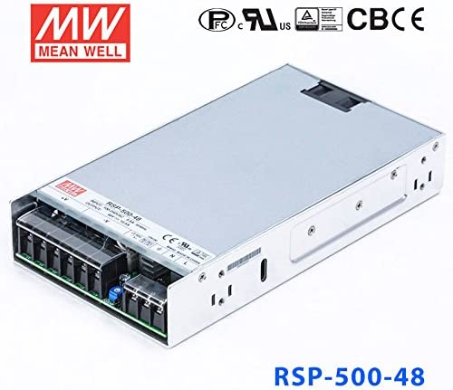 Meanwell RSP-500-48 Power Supply - 504W 48V 10.5A - Low Profile