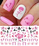 Its a Girl! Nail Art Decals - Footprints, Strollers & More! Great Baby Shower Gift! by Moon Sugar Decals
