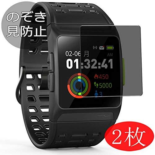VacFun 2 Pezzi Pellicola Privacy per iWOWNfit P1 GPS Running Watch, Screen Protector Protective Film Senza Bolle e Antispy (Non Vetro Temperato) Filtro Privacy