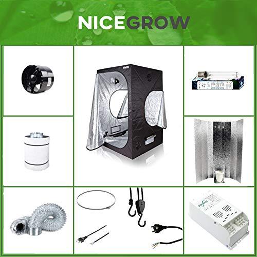Growset Dark Box 100 Komplettset 400W NDL Dual Aktivkohlefilter Komplettset Grow