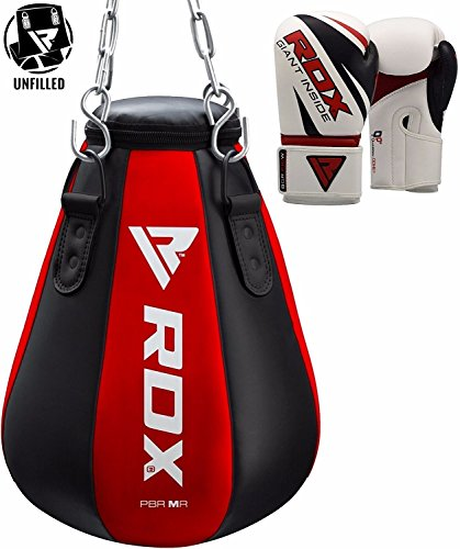 RDX MMA Maize Punching Bag Boxing UNFILLED Heavy Kickboxing Grappling Muay Thai Sparring Training Gloves Hanging Chain