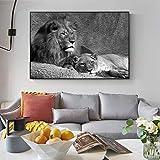 GJQFJBS Pintura Abstracta Animal Tiger Art Canvas Print Living Room Home Decoración de la Pared A5 60x90cm