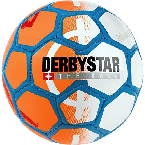 Derbystar Unisex– Erwachsene Street Soccer Fußball Ball, orange Weiss blau, 5