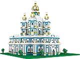 Micro Mini Blocks Smolny Cathedral Building and Architecture Set, (3737 Piezas) -3D Puzzle Castle Toys Regalos para Niños/Adultos Regalos Educativos