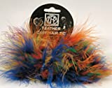 Marabou Feather - Cuffs / Hair Ties - Set of 2 - Multi Colored