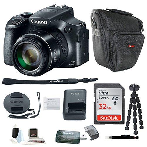 Canon PowerShot SX60 HS Digital Camera w/ 32GB SD Card & Accessory Bundle