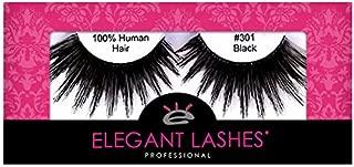 Elegant Lashes #301 The ORIGINAL Drag Queen Lash | Thick Long Black Human Hair False Eyelashes for Drag Halloween Dance Rave Costume