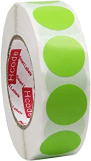 Hcode 3/4 Inch Color Coding Label Garage Sale Stickers Blank Yard Sale Price Stickers Round Colorful Stickers Permanent Adhesive Dots Writable Paper Labels 1000 Pieces (Green)