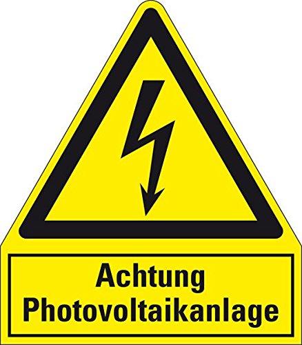 LEMAX® Warn-Kombischild Achtung Photovoltaikanlage, Kunststoff, 240x210mm