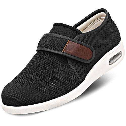 Orthoshoes Men's Adjustable Shoes Shoes Breathable Mesh Sneakers Walking Slippers Air Cushion Footwear for Diabetic Elderly, Swollen Feet, Plantar Fasciitis