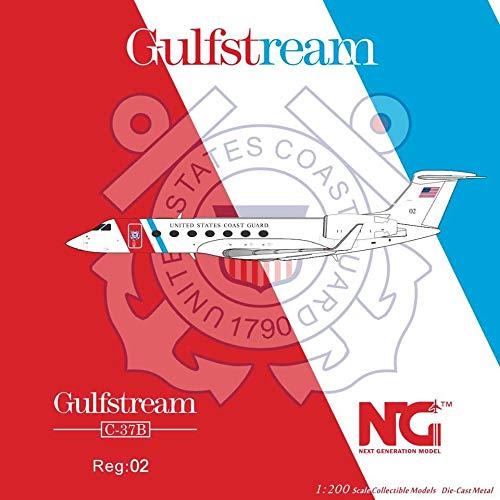 NG Model NGM75006 1:200 US Coast Guard Gulfstream C-37B Reg #02 (pre-Painted/pre-Built)