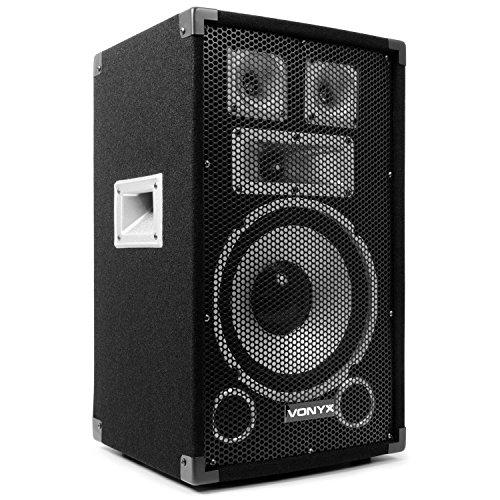 Skytec TX10 Passiv-PA-Lautsprecher Standlautsprecher (25cm Subwoofer, 150W RMS, Stativ-Flansch) schwarz