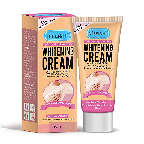 Skin Whitening Cream, Lightening Cream Effective for Armpit, Knees, Elbows, Sensitive & Private Areas, Whitens, Nourishes, Repairs & Restores Skin(60ml)