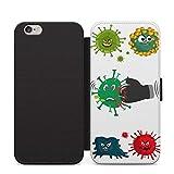 Funny Funny Virus 2020 Meme teléfono cubierta de cuero Flip caso para Apple iPhone 11 Pro Max